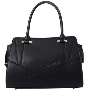 WITH 212 Black Satchel Purse like new